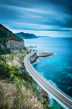 AUS3562AW The Seacliff Bridge. Seacliff, Illawara, New South Wales, Australia
