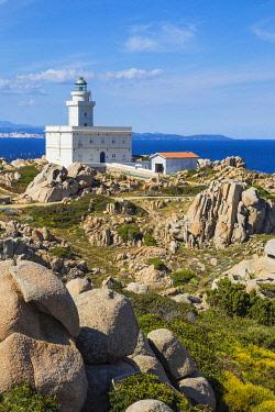 IT12301 Italy, Sardinia, Santa Teresa Gallura, Lighthouse at Capo Testa