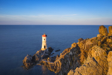 IT12345 Italy, Sardinia, Porto Cervo, Capo Ferro, Capo Ferro Lighthouse