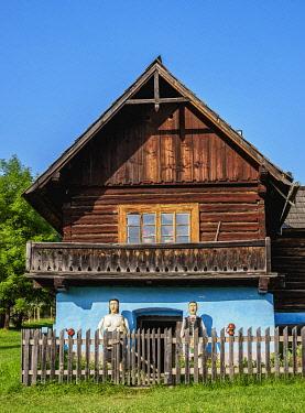 SLV1544AWRF Hut in Open Air Museum at Stara Lubovna, Presov Region, Slovakia