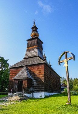 SLV1549AWRF Church in Open Air Museum at Stara Lubovna, Presov Region, Slovakia