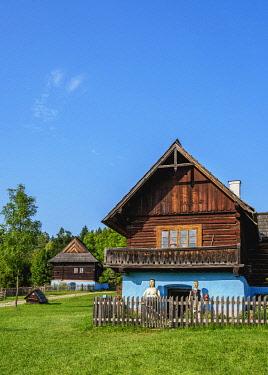 SLV1520AW Hut in Open Air Museum at Stara Lubovna, Presov Region, Slovakia