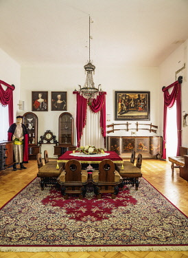 SLV1529AW Castle in Stara Lubovna, interior, Presov Region, Slovakia