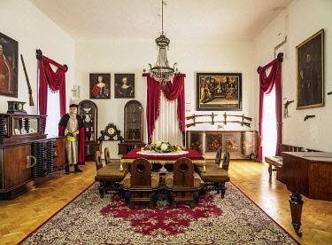 SLV1532AW Castle in Stara Lubovna, interior, Presov Region, Slovakia