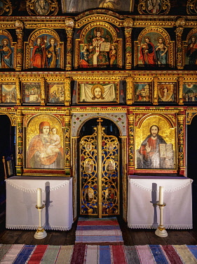 SLV1536AW Church interior, Open Air Museum at Stara Lubovna, Presov Region, Slovakia