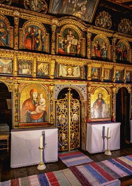 SLV1537AW Church interior, Open Air Museum at Stara Lubovna, Presov Region, Slovakia