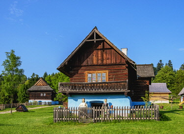 SLV1543AW Hut in Open Air Museum at Stara Lubovna, Presov Region, Slovakia