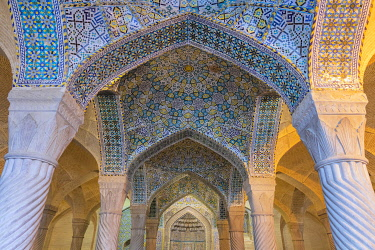 IR051RF Shabestan, prayer hall, Vakil Mosque, 1773, Shiraz, Fars Province, Iran