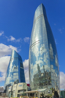 AZ01251 Flame Towers skyscrapers, 2013, Baku, Azerbaijan