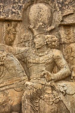 IR01423 Triumph of Shapur I over the Roman emperor Valerian (241-272), Sassanid relief, Naqsh-e Rostam, necropolis, Fars Province, Iran