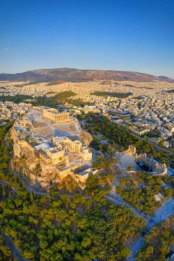 GR01398 Greece, Athens, Aerial view of the Parthenon