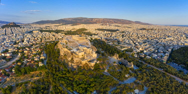 GR01399 Greece, Athens, Aerial view of the Parthenon