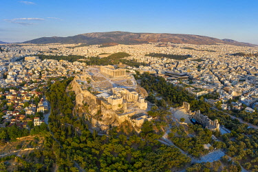 GR01400 Greece, Athens, Aerial view of the Parthenon