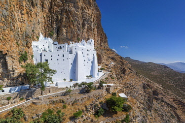 GR08852 Greece, Cyclades Islands, Amorgos, Moni Panagias Chozoviotissas Monastery
