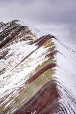PER34384AWRF Snowcapped Rainbow Mountain, Cusco Region, Peru