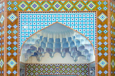 ARM0241AW Blue Mosque (detail), an 18th-century Shia mosque in Yerevan, Armenia.