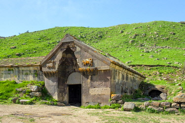 ARM0262AW Orbelian's Caravanserai, built in 1332, on the Vardenyats Pass (Selim Pass), Vayots Dzor Province, Armenia