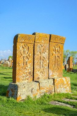 ARM0296AW Historic Khachars at Noratus Cemetery, Noraduz (Noratus), Gegharkunik Province, Armenia