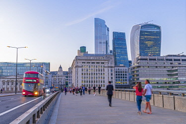 UK11697 UK, England, London, London Bridge and The City skyline, 22 Bishopsgate, Cheesegrater and Walkie Talkie