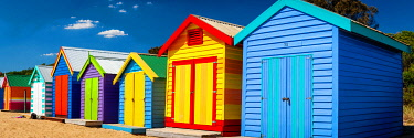AUS3626AW Colourful beach huts at Brighton Beach. Brighton, Melbourne, Victoria, Australia