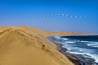 NAM6658AW Sand dunes, Sandwich Harbour, Namib-Naukluft National Park, Walvis Bay, Namibia
