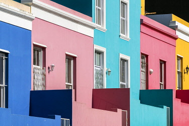 SAF7602AWRF Brightly coloured homes in Bo-Kaap district, Cape Town, Western Cape, South Africa