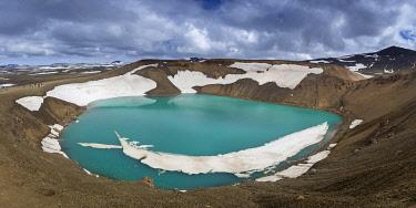 ICE4167AWRF Turquoise lake in Viti volcanic crater at Krafla, Myvatnssveit, Northeast Iceland, Iceland