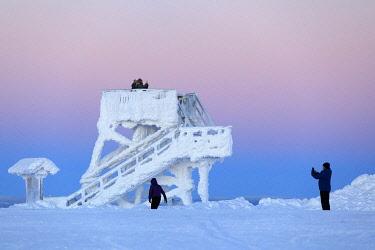 HMS3216737 Finland, Lapland province, Inari, Saariselka, Kaunispaa Summit