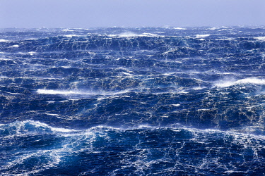 HMS3380606 French Southern and Antarctic Lands, violent storm, Beaufort scale 10 gusting to 11 in the roaring forties, picture taken aboard the Marion Dufresne (supply ship of French Southern and Antarctic Terri...