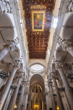 HMS3334230 Italy, Apulia, Salento region, Lecce, 17th century Santa Croce Basilica, masterpiece of baroque art