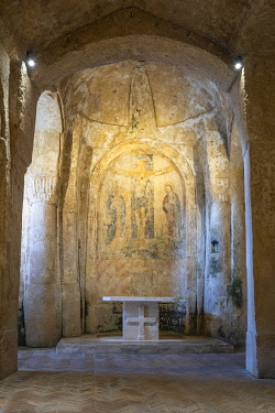 HMS3286321 Italy, Basilicata, Matera, European Capital of Culture in 2019, its troglodyte habitats or Sassi di Matera and its rock churches are listed as World Heritage by UNESCO, Sasso Barisano, Cchurch of the...