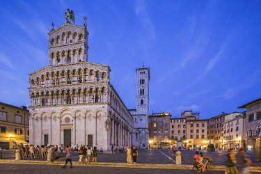 HMS3324593 Italy, Tuscany, Lucca, Piazza San Michele, San Michele in Foro Church