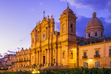 HMS3413433 Italy, Sicily, Noto, UNESCO World Heritage site, San Nicolo cathedral