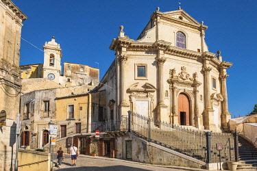 HMS3413470 Italy, Sicily, Ragusa, Ragusa Ibla (Lower town), UNESCO World Heritage site, Anime Sante del Purgatorio church