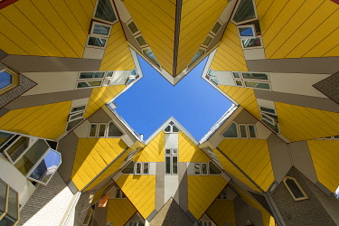 HMS3296256 Netherlands, Southern Holland province, Rotterdam, the cubic houses (Kubuswoningen) by architect Piet Blom