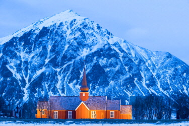HMS3380771 Norway, Nordland County, Lofoten Islands, Flakstad, Church