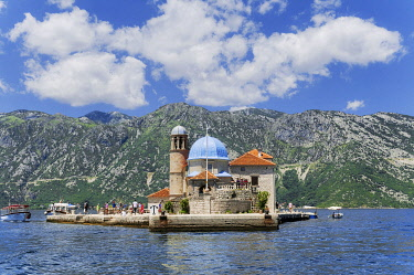 HMS3484595 Montenegro, Kotor region, Bay of Kotor, Island of Our Lady of the Rock of Mercy