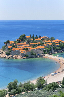 HMS3484644 Montenegro, Budva Riviera, Sveti Stefan resort hotel village