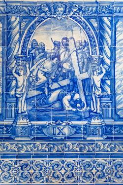 HMS3358453 Portugal, Alentejo region, Evora, UNESCO World Heritage site, Sao Francisco church built in the sixteenth century, the chapter room (sala do Capitulo)