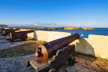 HMS3373640 Portugal, Algarve region, Southwest Alentejano and Costa Vicentina Natural Park, Sagres in the extreme south-west of Portugal and Europe, Sagres Fortress built in the 15th century by Prince Henry the...