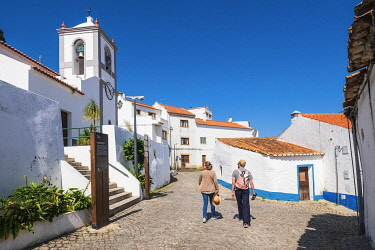 HMS3373937 Portugal, Algarve region, Southwest Alentejano and Costa Vicentina Natural Park, Odeceixe on the hiking trail Rota Vicentina, Nossa Senhora da Piedade church