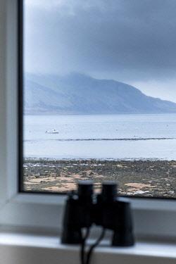 HMS3282585 United Kingdom, Scotland, North Ayrshire, Arran island, Lamlash, Hotel Glenisle at dawn