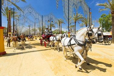 HMS3287175 Spain, Andalucia, Cadiz Province, Jerez de la Frontera, the Feria del Caballo (the horse fair)