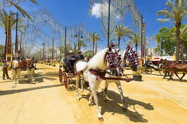 HMS3287176 Spain, Andalucia, Cadiz Province, Jerez de la Frontera, the Feria del Caballo (the horse fair)