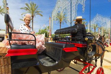 HMS3287183 Spain, Andalucia, Cadiz Province, Jerez de la Frontera, the Feria del Caballo (the horse fair)