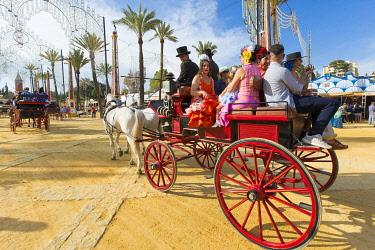 HMS3287191 Spain, Andalucia, Cadiz Province, Jerez de la Frontera, the Feria del Caballo (the horse fair)