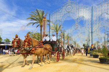HMS3287199 Spain, Andalucia, Cadiz Province, Jerez de la Frontera, the Feria del Caballo (the horse fair)