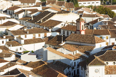 HMS3295835 Spain, Andalucia, Province of Cadiz, Grazalema, Sierra de Grazalema Natural Parc, White village (Pueblos Blancos) on the White Villages road (Ruta de los Pueblos Blancos)