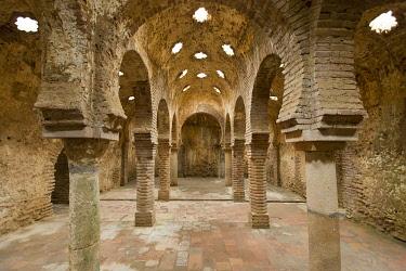 HMS3295862 Spain, Andalucia, Malaga Province, Ronda, white villages road (Ruta de los Pueblos Blancos), 13th century arab baths in the old jewish district