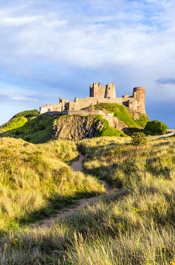 ENG16251AW A path towards Bamburgh castle, Northumberland, England